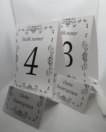 winietki wizytówki numery stołów plany stolików gości zawiszki