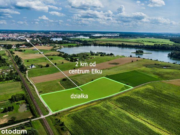 Dwie działki Mazury 2 km od centrum Ełku