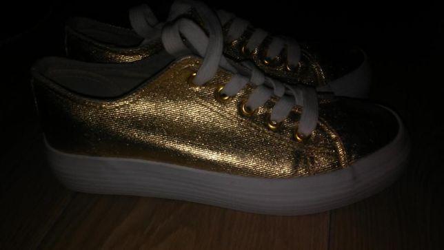 NOWE złote buty r.37