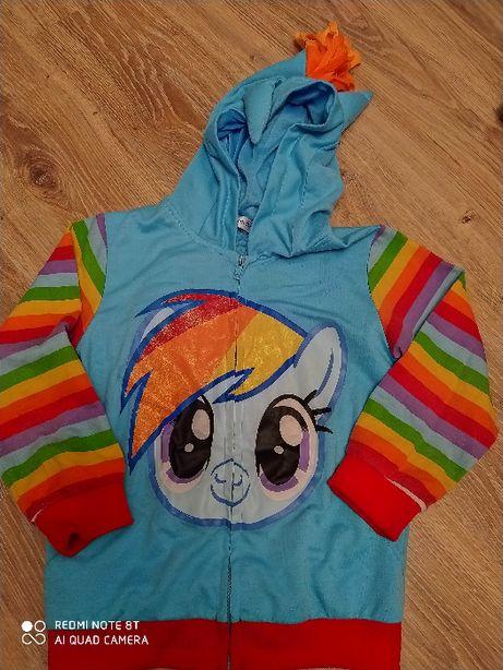Bluza Kolorowa Unicorn dla Dziewczynki rozm. 140