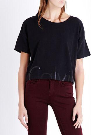Czarna bluzka Calvin Klein M 38 oversize T-shirt top krótki rękaw