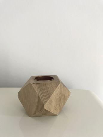 Świecznik tealight drewno czary z drewna
