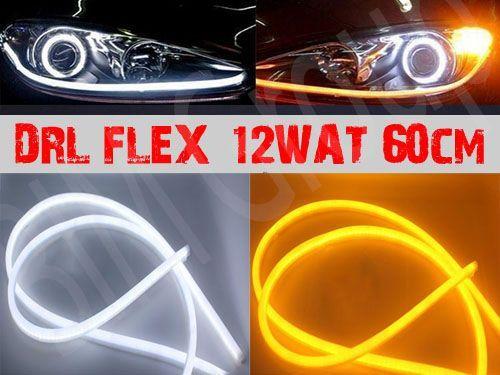 Światła dzienne DRL + kierunkowskazy FLEX LED SUPER WHITE 12WAT 60CM