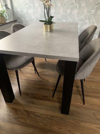 Stół i krzesła loft industrialny beton metal