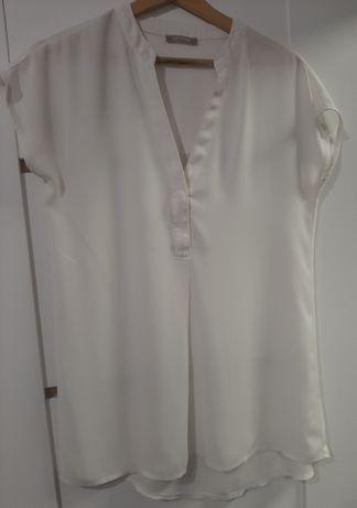 Bluzeczka z krotkim rekawem biala