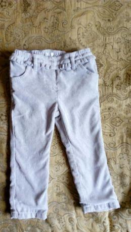 Продам брюки на девочку Benetton Baby из микровельвета на рост 74 см