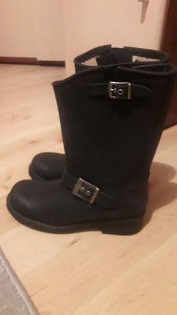 Johnny Bulls nowe buty kowbojki skórzane, r.39 motocyklowe