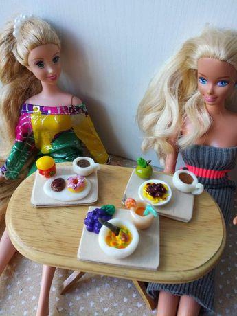 Barbie, dollhouse, maileg, Schleich, jedzenie, lalki