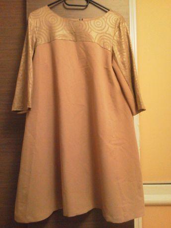 Sukienka beżowa marki Oliwia wesele, chrzciny, komunia