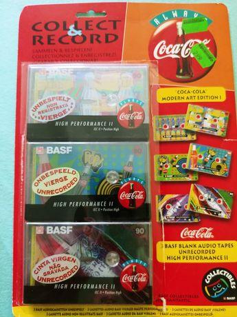 BASF 90 coca cola legends edition Chromowe Kasety magnetofonowe