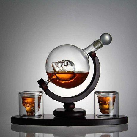 "Подарочный набор для виски ""Доктор Фауст"". Декантер. Подарок мужчине"