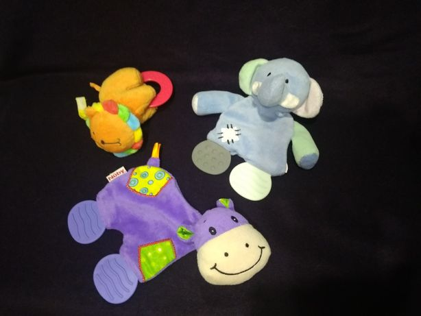 Мягкие игрушки прорезыватели