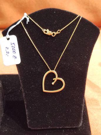 Продам золотую цепочку с кулоном сердца 750°