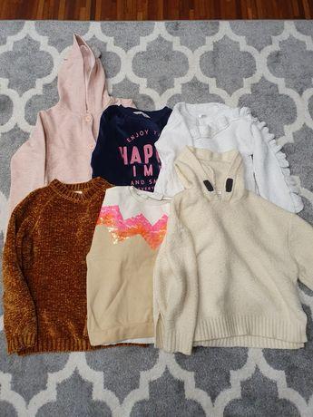 3 swetry 3 bluzy zara h&m 51015 dziewczynka rozm 128
