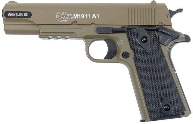 Cybergun Pistolet ASG Colt 1911A1 HPA Metal Side Tan 180126 Replika