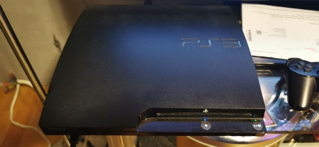 Playstation 3 slim 300gb +gry i kable