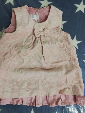 Sukienka hm 74 z falbanka na podszewce