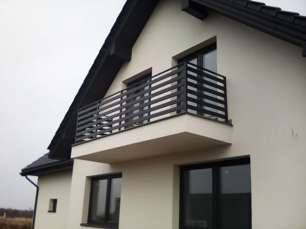 balustrady i balkony Francuskie ze stali czarnej i inox