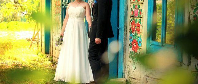 Suknia ślubna - oddam za dużą paczkę Pampersów rozmiar 3 :-)