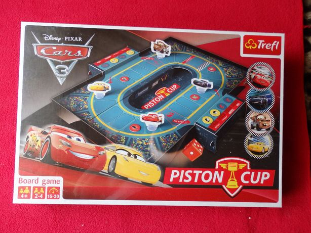 Trefl – gra planszowa Auta 3 Piston Cup