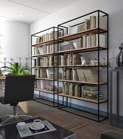 Regał industrialny na książki półka loft biblioteka biuro gabinet nowy
