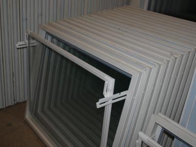 Inwentarskie Okna_gospodarcze okno uchylne przemysłowe PCV BEZ metalu