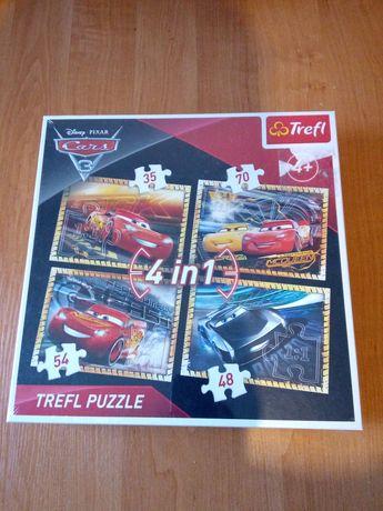 Puzzle Cars 4w1 - nowe