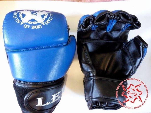 Перчатки Lev для любительского ММА, рукопашки, кожа, новые