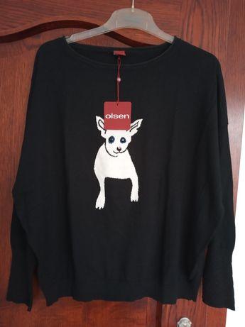 Nowy sweter damski czarny firmy Olsen.