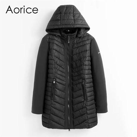 Новая!Женская длинная куртка с капюшоном, парка, пальто, деми, весна