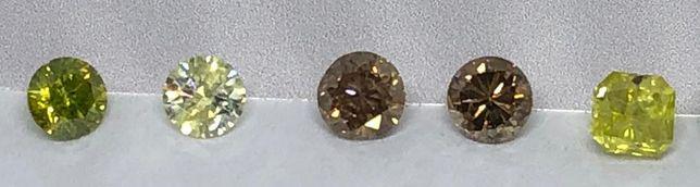 Diamantes Fancy várias cores e tamanhos