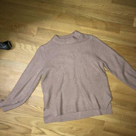 Пудровый свитер ZARA (XS-S) Цвет в жизни насыщенней