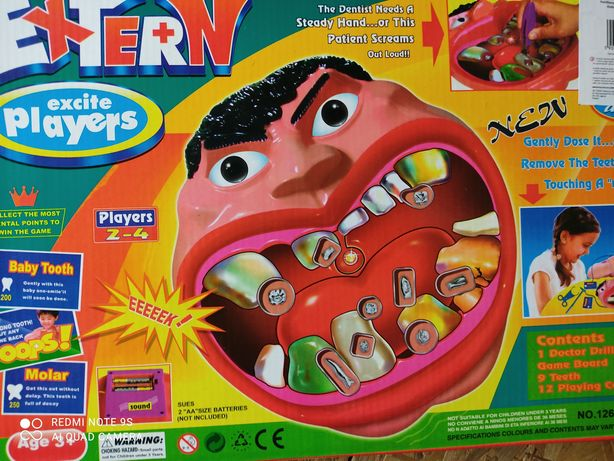 Gra zręcznościowa szalony dentysta dla dzieci prezent