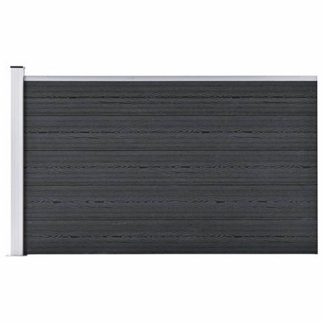 vidaXL Painel de vedação para jardim 180x105 cm WPC cinzento 49075