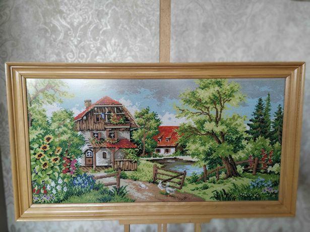 Obraz ręcznie haftowany 99cmx55cm