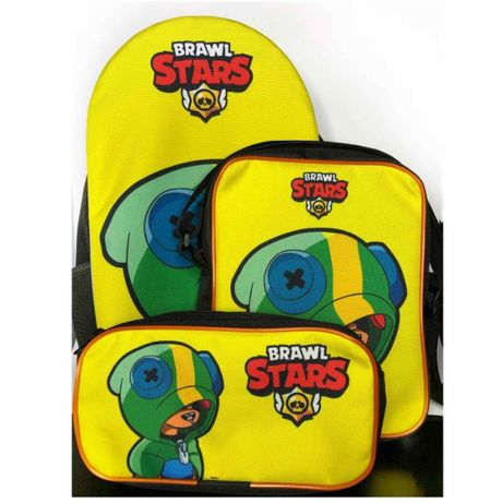 Набор Бравл Старс Brawl Stars: рюкзак,сумка и пенал! Брелок в подарок!