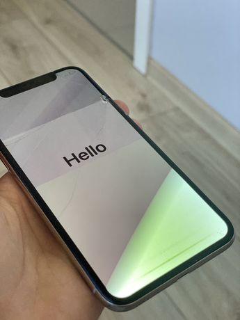 Iphone X 64gb uszkodzony biały
