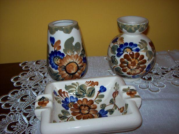 Sprzedam zestaw z ceramiki ręcznie malowany (3 sztuki)