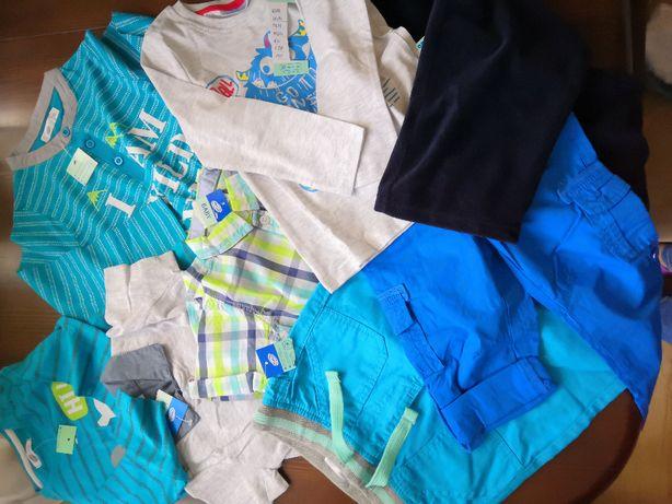 Nowe ubranka dla chłopca,8 sztuk,rozmiar 92, wysyłka 1zł