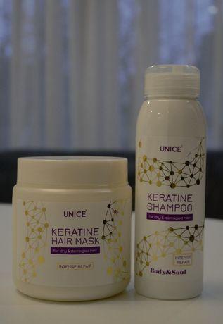 Маска +шампунь для волосся, Професійний Догляд з Кератином