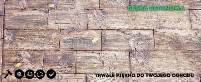 Deska betonowa-płyty chodnikowe-tarasowe drewnopodobne-m²