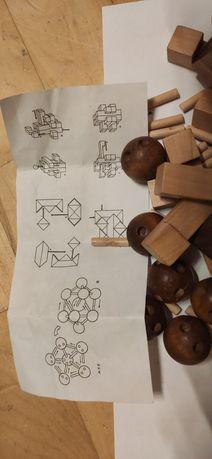 Drewniana układanka logiczna puzzle