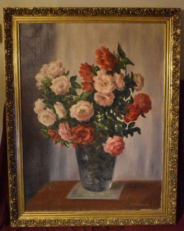 Olejny Obraz Kwiaty w Krysztale