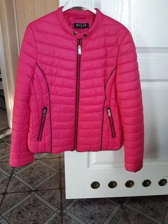 kurtka pikowana puchowa różowa