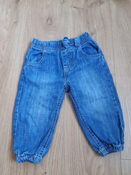 Spodnie jeansowe joggersy rozmiar 74.