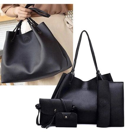 Женская сумка Lady bag 4 в 1 (черная) при покупке+приятный подарок