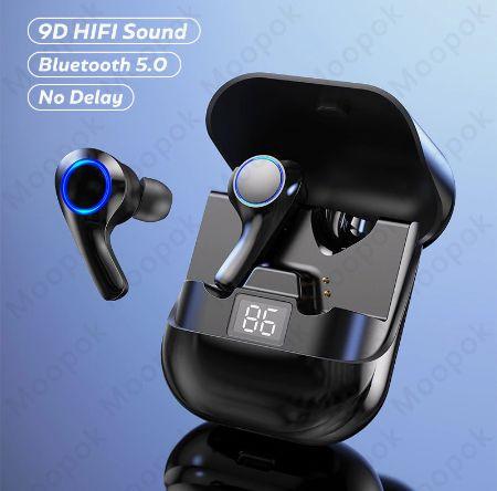 Słuchawki Bluetooth PT08 TWS Bezprzewodowe + Power Bank LCD