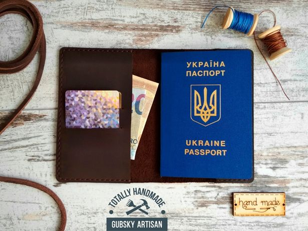 Чехол для документов Обложка для паспорта из кожи