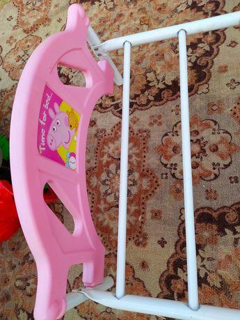 Детская кровать Свинка Пеппа для девочек до 5 лет розовая