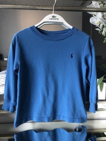 Ralph Lauren bluzka unisex niebieska 92/98 cm 2 T